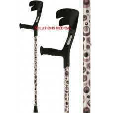CRUTCHES STORM COLOUR ADJUSTIBLE TO 10 POSITIONS DESIGN SILVER,GREY & BLACK