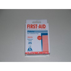 2X FIRST AID FABRIC DRESSING STRIPS (25/BOX) LATEX FREE SALE ITEM